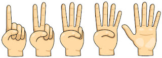 Счёт до пяти на пальцах