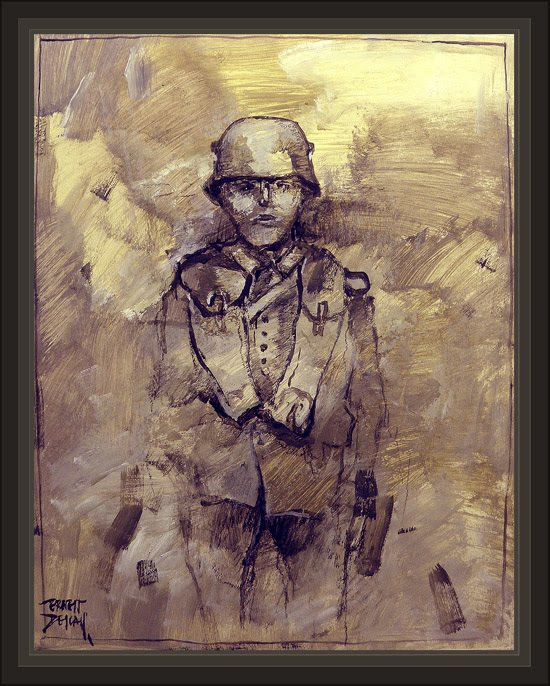 REICHSWEHR-ALEMANIA-GERMANY-GERMAN SOLDIER-SOLDADO ALEMAN-EJERCITO-ARMY-PINTURA-PAINTINGS-ERNEST DESCALS