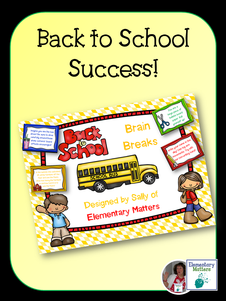 Several ideas and resources are suggested for back to school success.