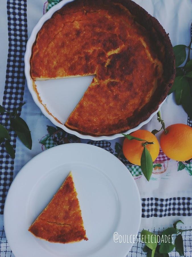 Queijada de leite (con naranja)
