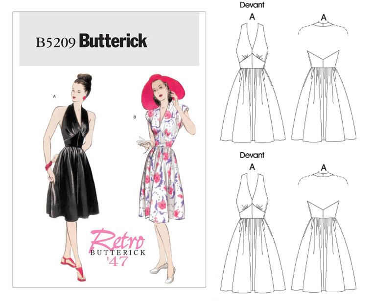 Big Vintage Sew Along - Retro Butterick \'47 - B5209 - 1940s Tea ...