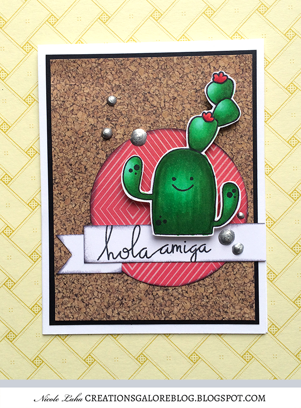 Paper Smooches Hola Card