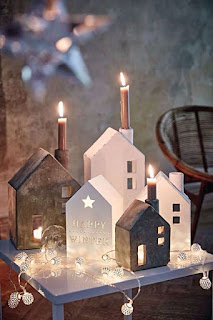 case porta candele in gesso e cemento