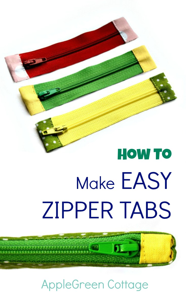 How To Shorten Zippers and Make Zipper Tabs