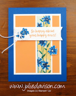 Stampin' Up! Abstract Impressions Skinny Panel Card ~ www.juliedavison.com
