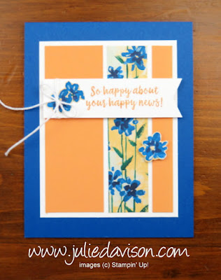 Stampin' Up! 2018-2019 Annual Catalog ~ Garden Impressions ~ Abstract Impressions Skinny Panel Card ~ www.juliedavison.com