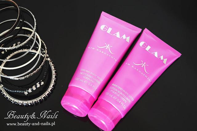 GLAM, Kim Kardashian - lotion do ciała i kremowy żel do mycia ciała.