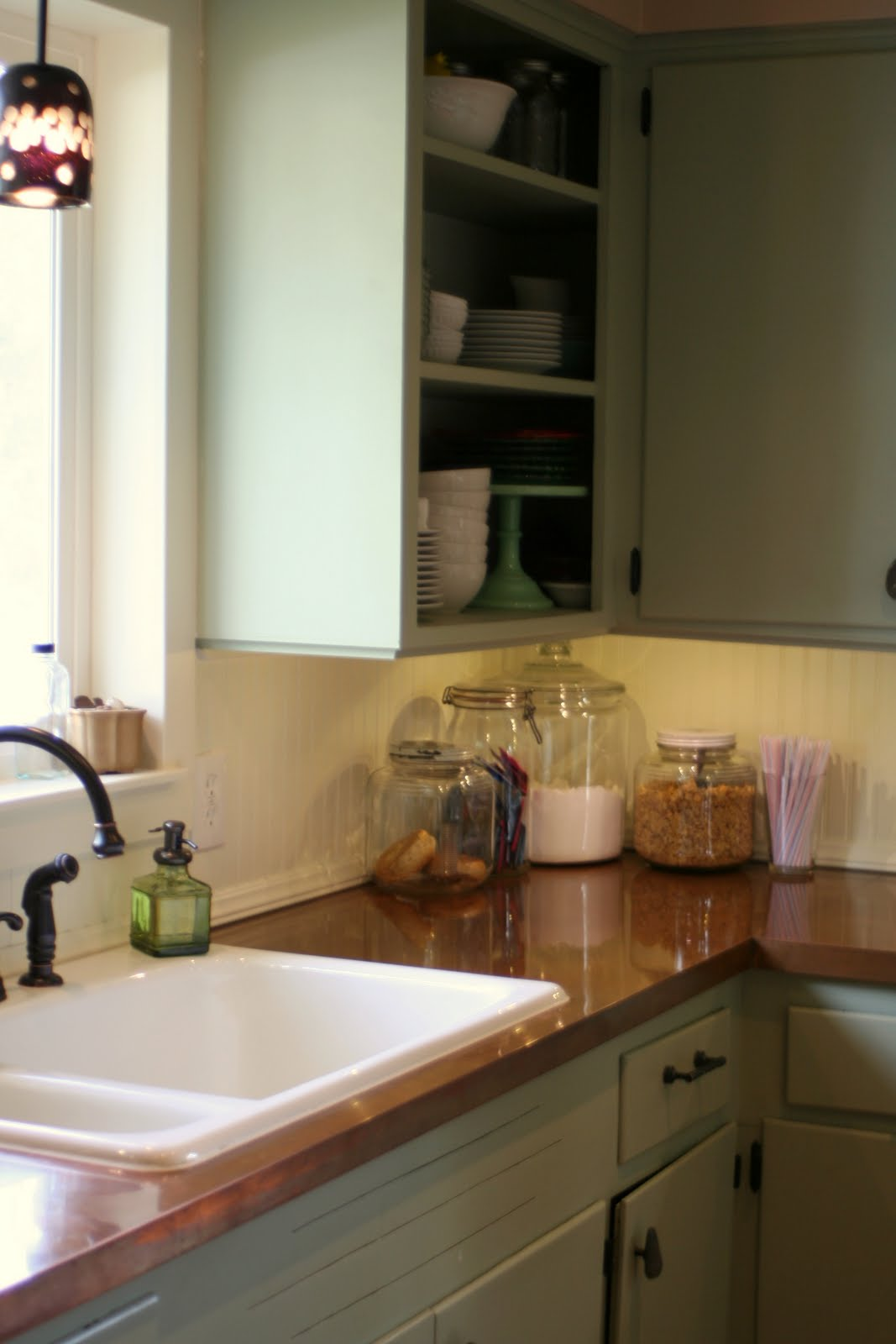 * Remodelaholic *: Copper Countertops Tutorial; Kitchen