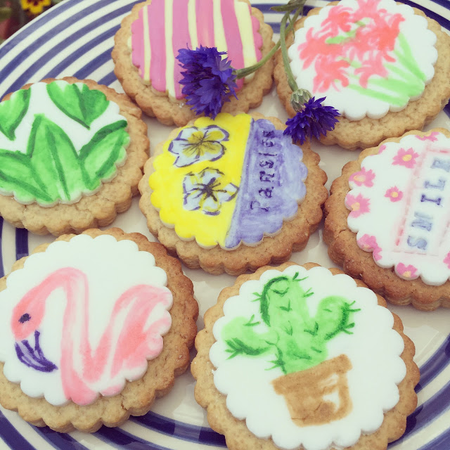 watercolour biscuits