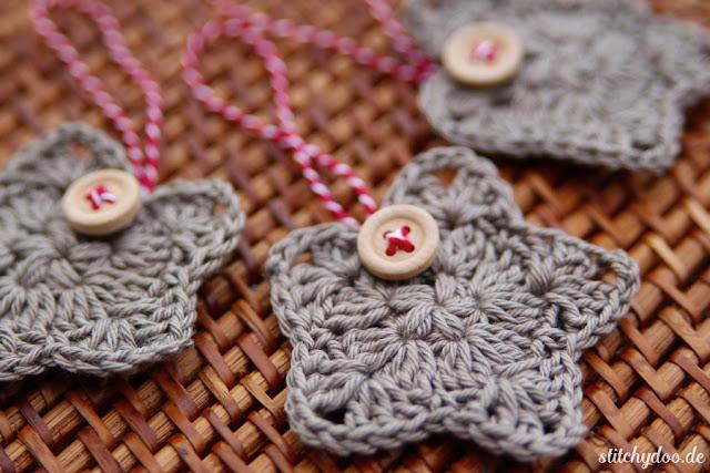stitchydoo: Weihnachtssterne - Häkelanhänger
