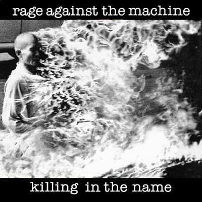 Portada del single Killing in the  name del grupo Rage Against The Machine