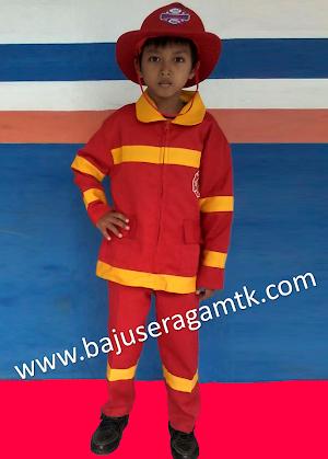 jual kostum anak baju profesi anak baju pemadam kebakaran anak baju polantas anak baju militer anak baju baret merah murah
