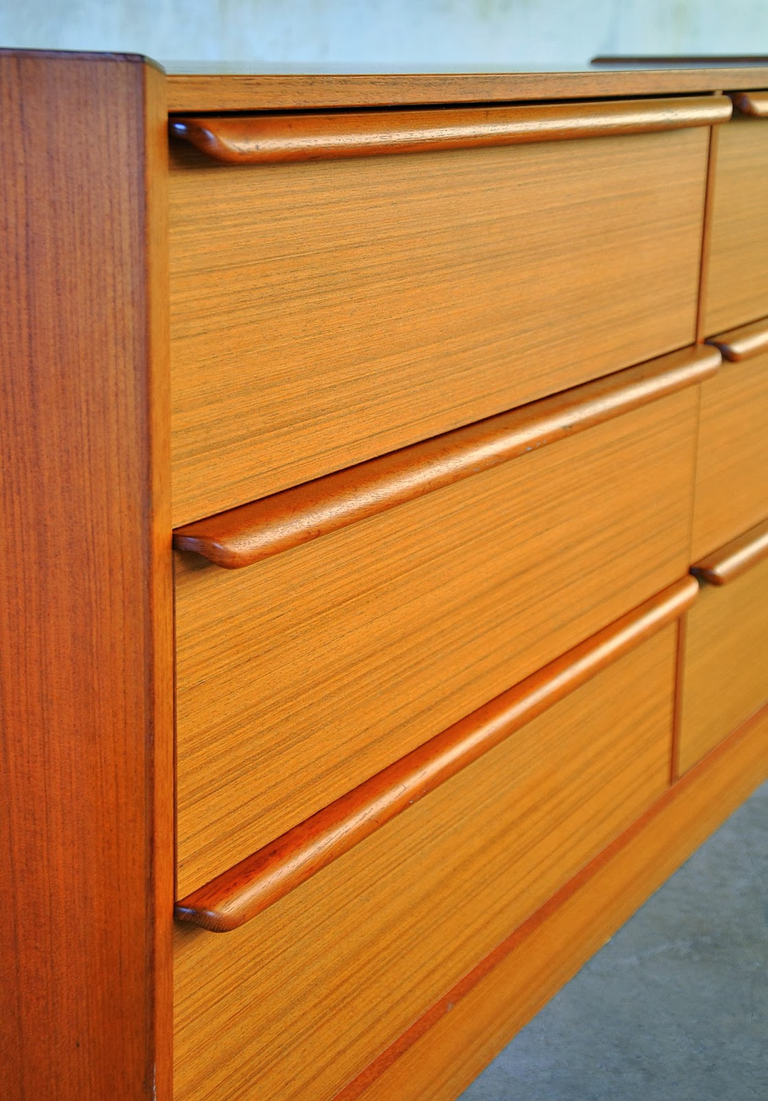 Select Modern Danish Modern Teak Double Dresser