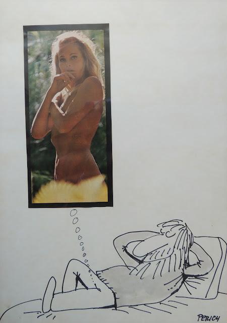 Jaume Perich ilustración desnudo collage Gaudifond Arte