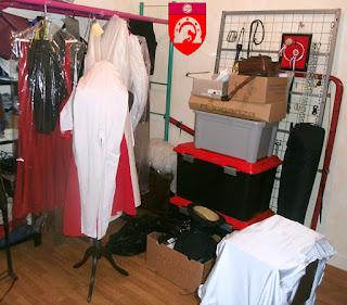 L'atelier de couture en effervescence.