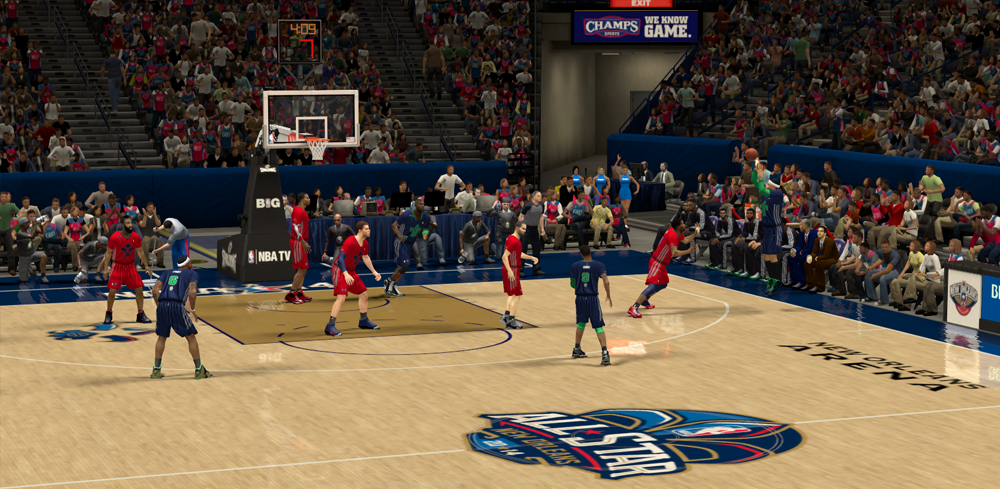 NBA 2K14 2014 NBA All-Star Game Court Patch