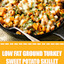 Low Fat Ground Turkey Sweet Potato Skillet #glutenfree #lowfat
