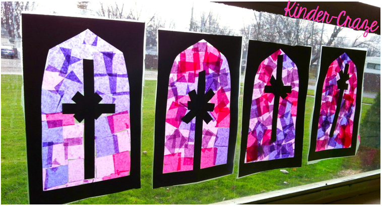 "Faith Filled Freebies: Simple ""Stained Glass"" Window"