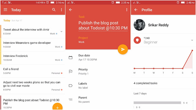 Todoist Android App