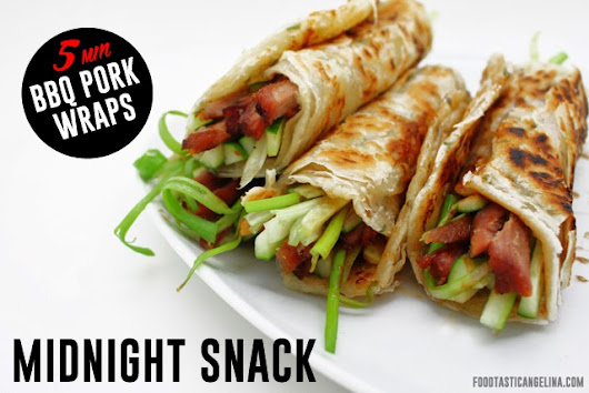 BEST MIDNIGHT SNACK 5 MINUTE BBQ PORK WRAPS