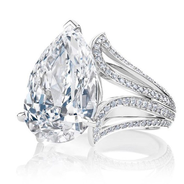 Wish R849 Pear Shaped Engagement Ring