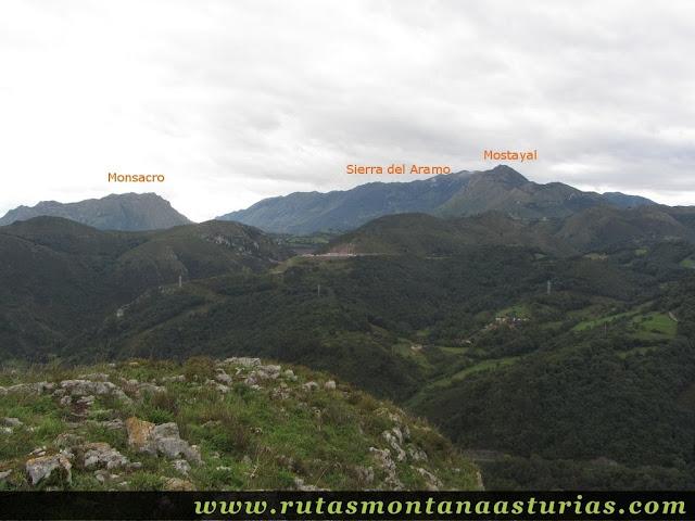 Ruta Bueño Peña Avis: Vista del Mosacro, Mostayal y Sierra del Aramo