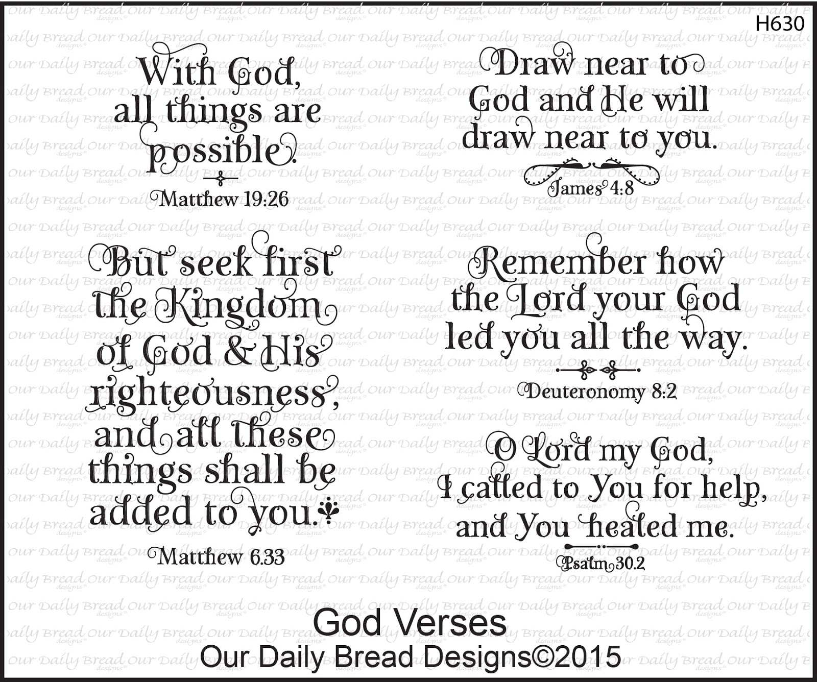 Stamps - Our Daily Bread Designs God Verses