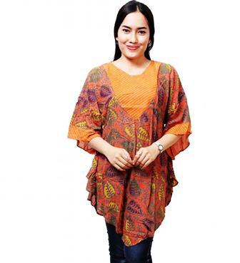 Model Baju Batik Atasan Lengan Panjang