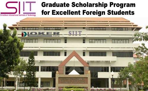 Beasiswa Penuh S2 dan S3 SIIT Graduate Scholarship Program Thailand 2019