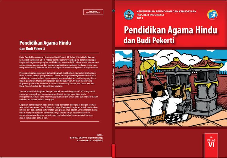 Download Gratis Buku Siswa Pendidikan Agama Hindu Dan Budi Pekerti Kelas 6 SD Kurikulum 2013 Format PDF