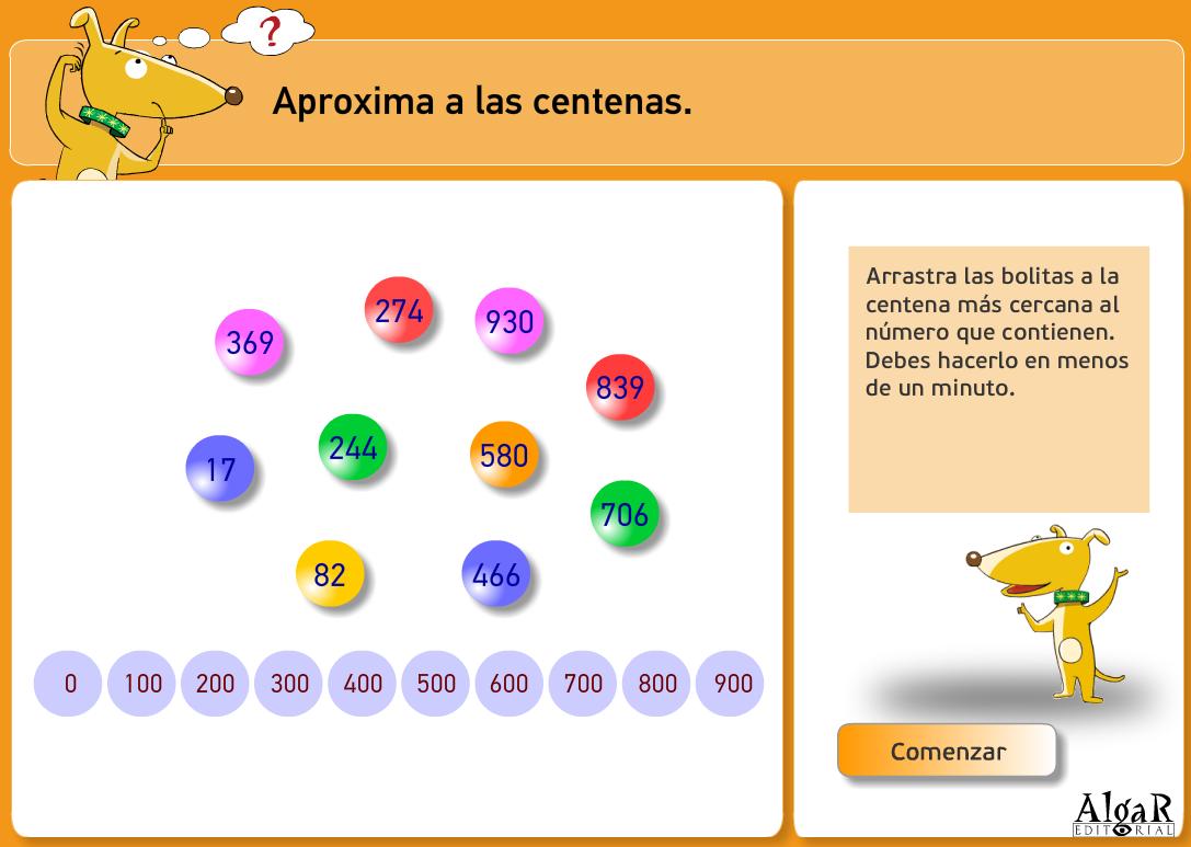http://www.primerodecarlos.com/TERCERO_PRIMARIA/archivos/actividades_capicua_tercero/1/aproximar_a_las_centenas.swf