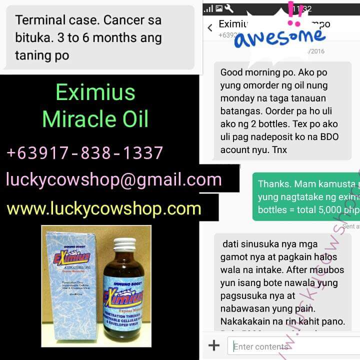 eximius miracle oil cancer