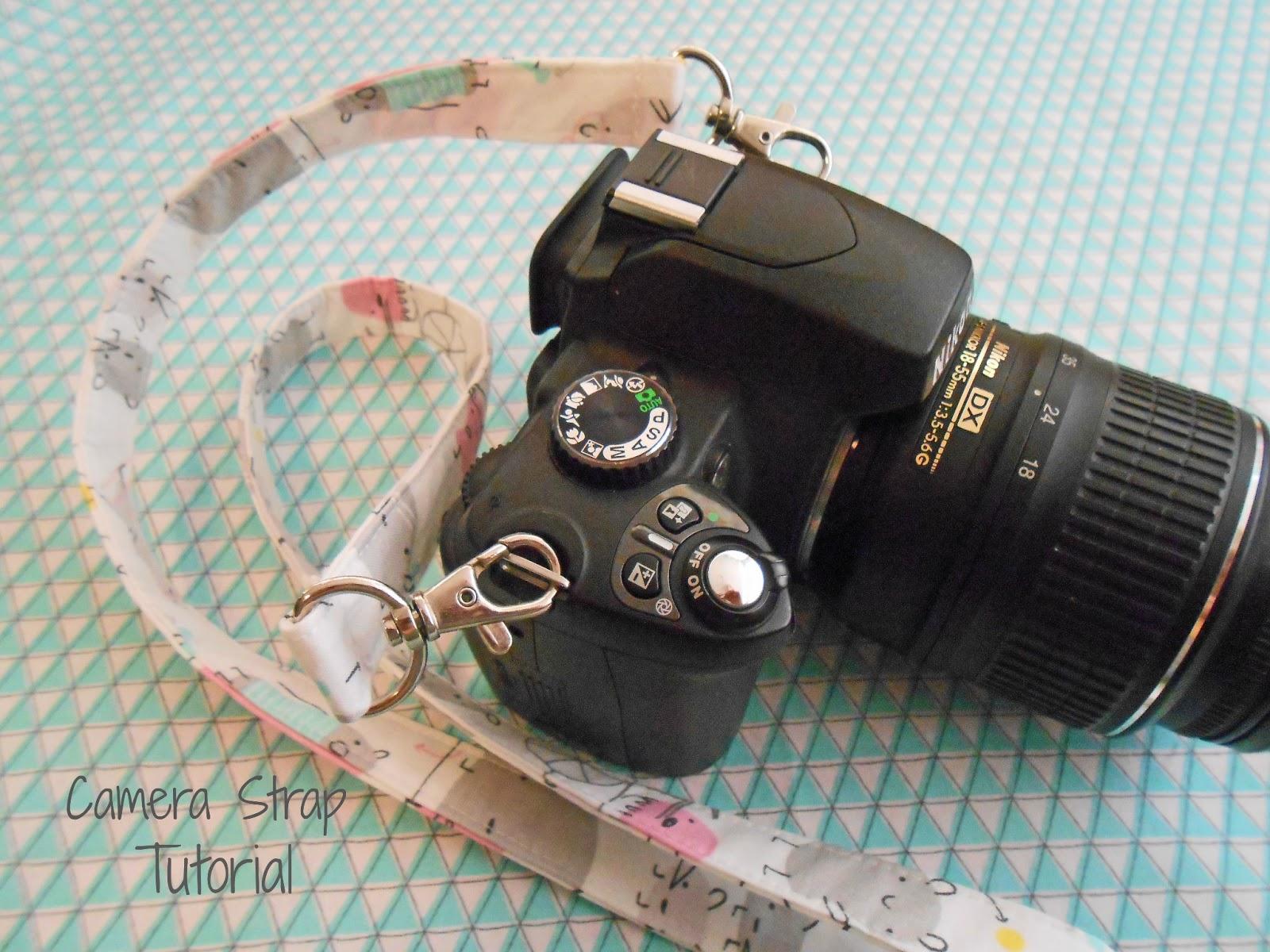 33stitches: Easy Camera Strap Tutorial
