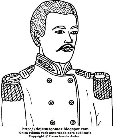 Dibujo de Alfonso Ugarte para colorear, pintar e imprimir  (Busto de Alfonso Ugarte). Dibujo de Alfonso Ugarte hecho por Jesus Gómez