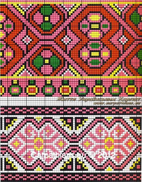Гуцульський орнамент вишиванки №10. 7f1cda2ad56d7