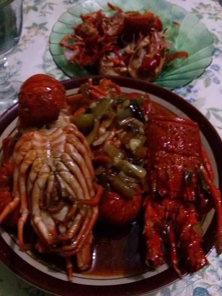 Lobster masakan sendiri