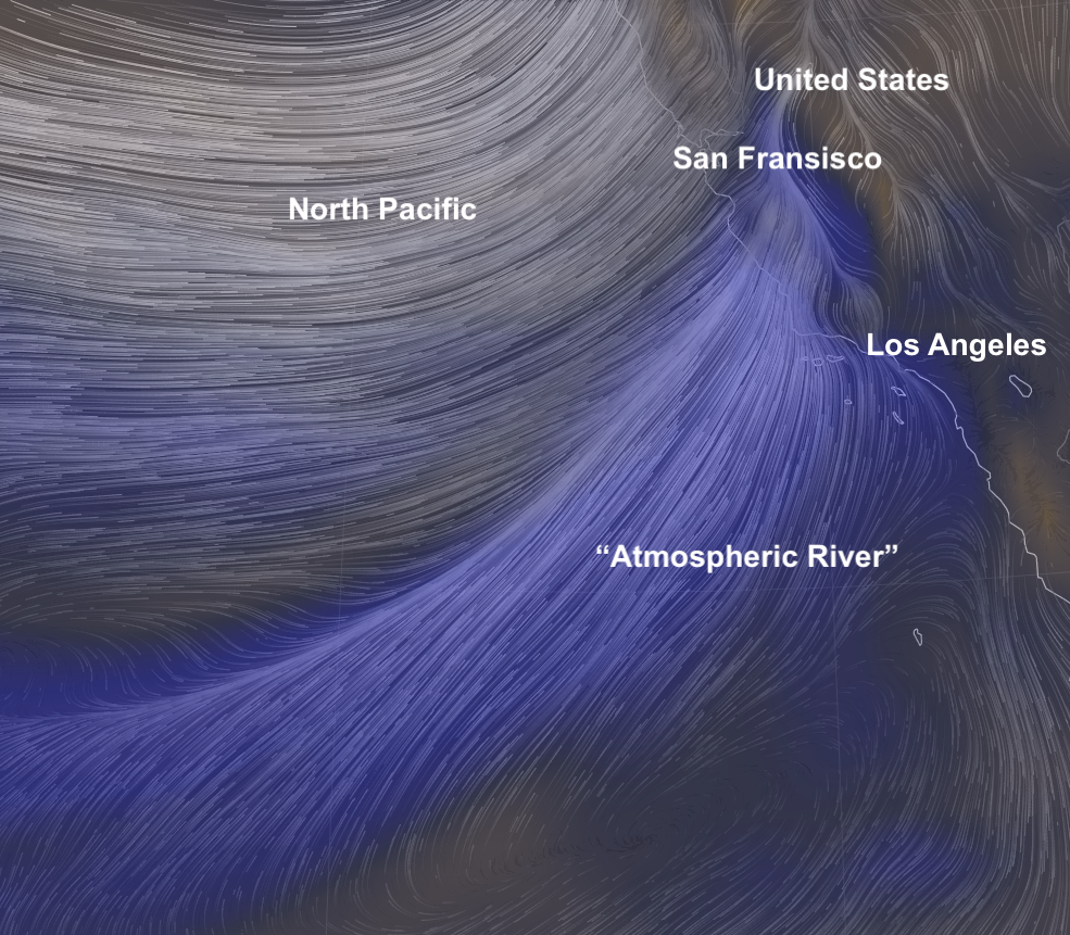 """A massive """"Atmospheric River"""" is set to dump nearly 10 feet, 3 metres of snow and nearly 2 months rain in 2 days on California  Screenshot%2B2019-01-16%2Bat%2B12.06.49"""