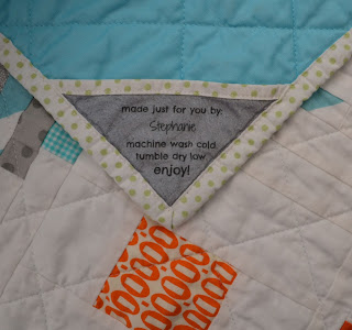 personalized quilt label