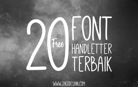 Download 20 Font Handlettering / Tulisan Tangan Terbaik