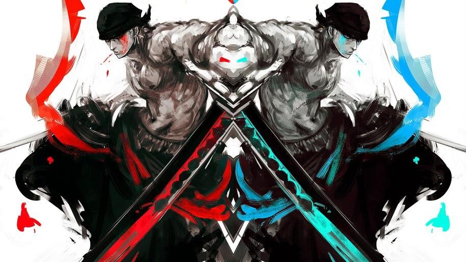 Zoro, Katana, Art, One Piece, 4K, #6.56