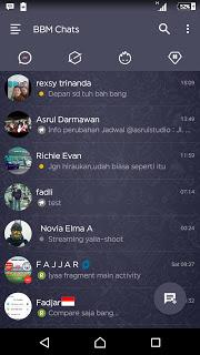 BBM DARK NAVY V3.0.1.25 APK Terbaru 2016