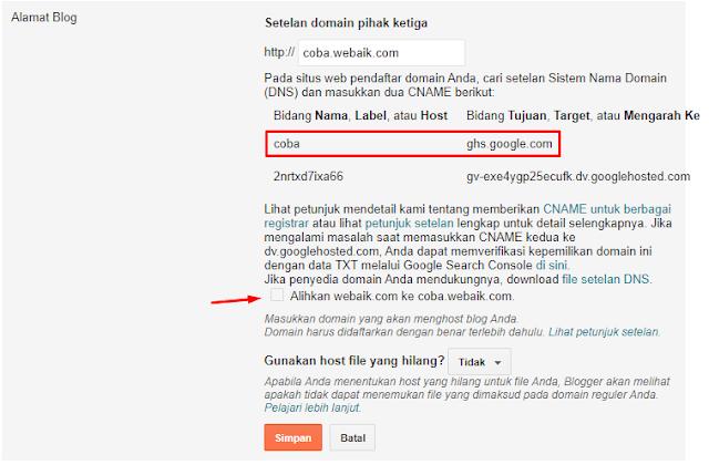 Cara Mudah Menambahkan SubDomain Baru di Blogger Blogspot