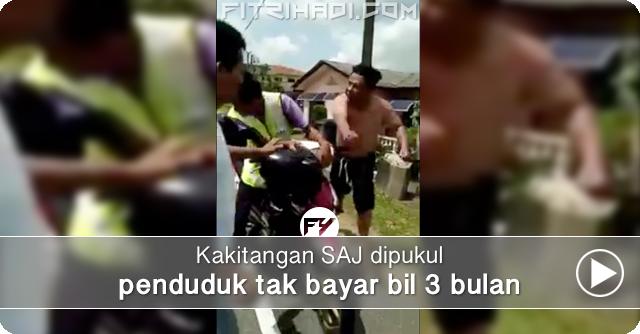 (Video) Kakitangan SAJ Dipukul Penduduk Tak Bayar Bil Air 3 Bulan