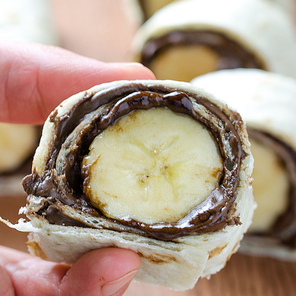 Super Easy And Really Delicious - Banana And Nutella Sushi