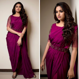Keerthy Suresh in Pink Saree with Cute and Lovely Smile 1