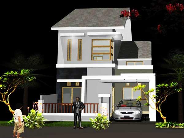 inspiasi desain rumah minimalis 2 lantai