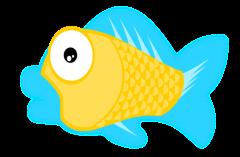 Sad fish clip art