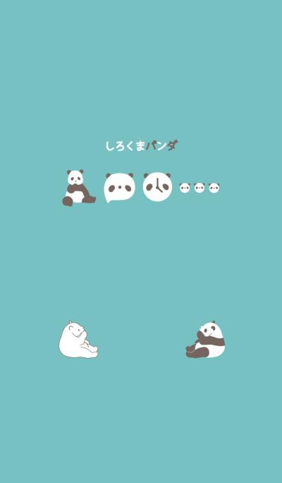 polar bear and panda
