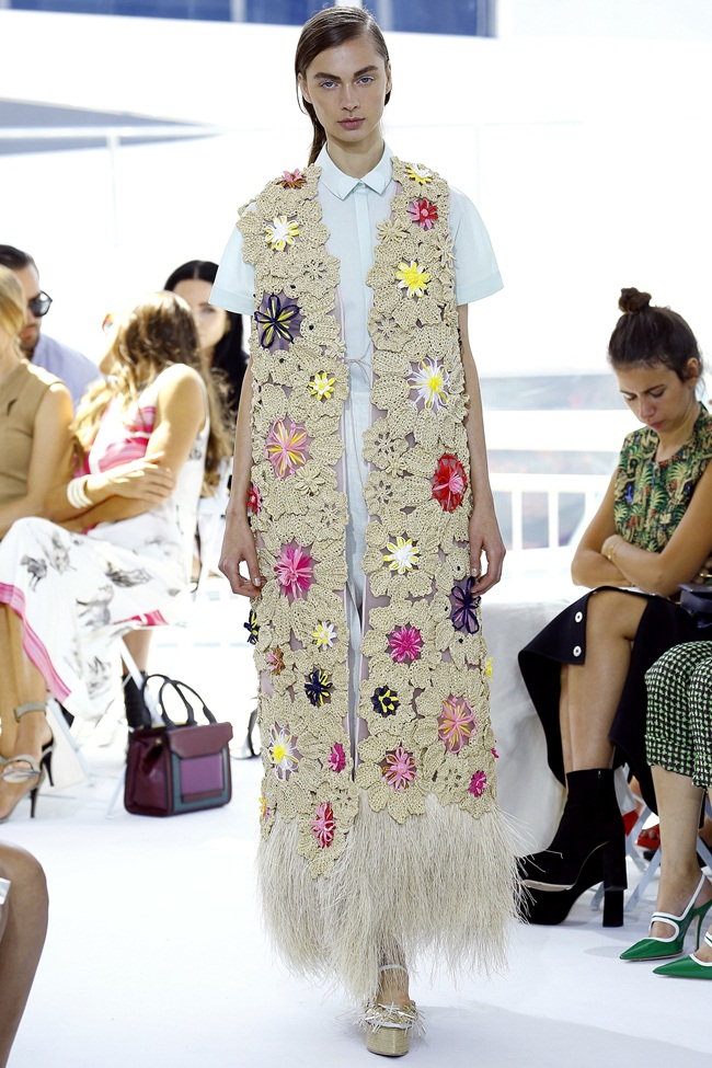2016 SS Delpozo Long Vest on Runway