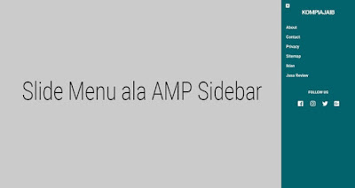 menu amp slide sidebar